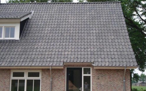Oude Holle Sinus Vieilli Blauw Gesmoord 714 | New Construction Open - Detached House and Outhouse | Dalfsen | Completion Date: 2014-05-01