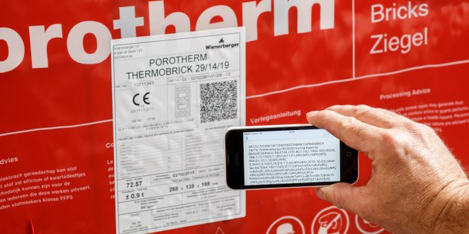 Scanning a QR code while using the app for CE documents